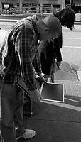 Laptops, San Fransisco (C) 2003 Kevin Bjorke